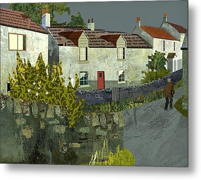 Evening In The Village. Metal Print by Kenneth North