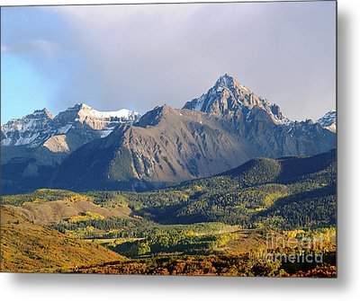 Evening Light On The Sneffels Range Metal Print by Alex Cassels
