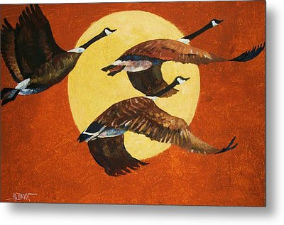 Evening Migration Metal Print