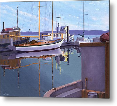 Evening On Malaspina Strait Metal Print