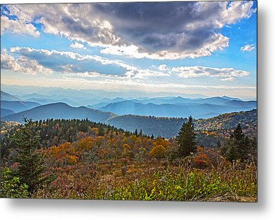 Evening On The Blue Ridge Parkway Metal Print