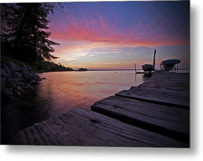 Evening On The Dock Metal Print