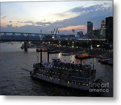 Evening On The River 2 Metal Print by Mel Steinhauer
