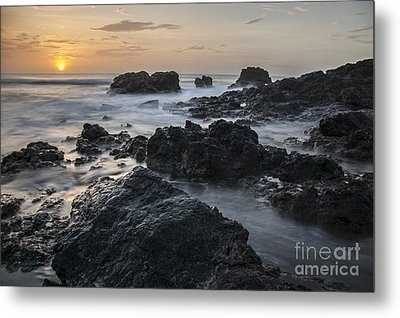 Evening On The Rocky Shore Metal Print