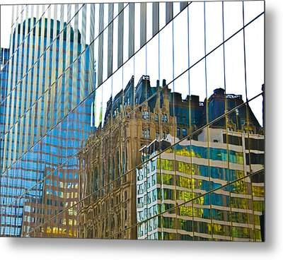 Evening Reflections Metal Print by Larry Goss