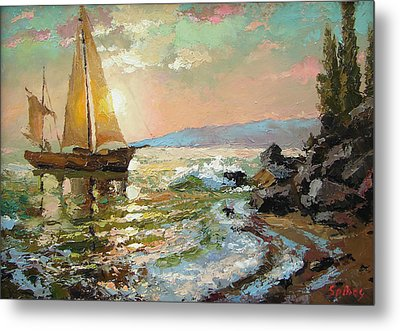 Evening Sail Metal Print