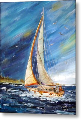 Evening Sailing Metal Print by Dorothy Maier