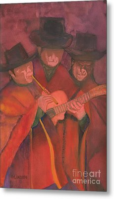 Metal Print featuring the painting Evening Serenade by Sandy Linden