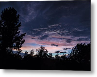 Evening Storm Metal Print by Maria Robinson