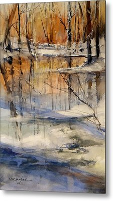 Evening Thaw Metal Print
