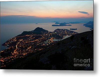Evening View Toward Dubrovnik And The Dalmatian Coast Metal Print by Kiril Stanchev