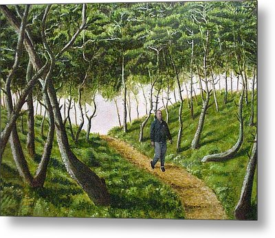 Metal Print featuring the mixed media Evening Walk by Kenny Henson