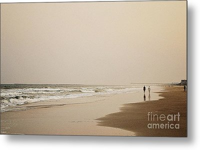 Evening Walk On Wrightsville Beach Metal Print