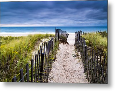 Flying Point Beach Vista Metal Print
