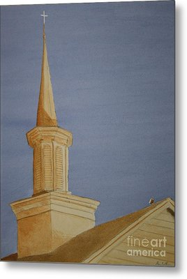 Metal Print featuring the painting Evening Worship by Stacy C Bottoms