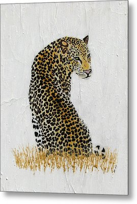 Metal Print featuring the painting Ever Watchful by Stephanie Grant