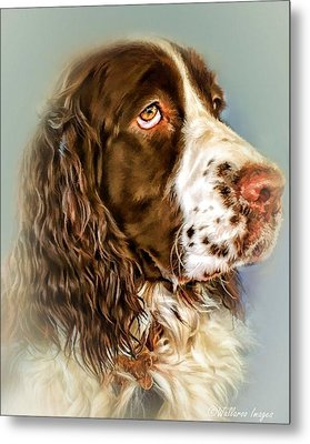 Ever Watchful English Springer Spaniel Metal Print by Wallaroo Images