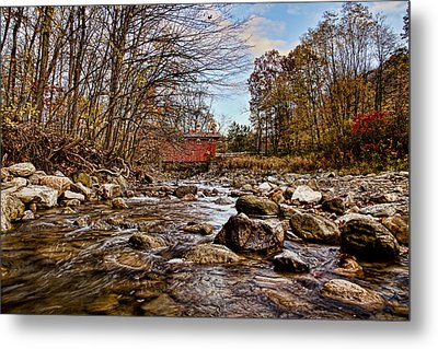Everett Rd Covered Bridge Metal Print by Jack R Perry