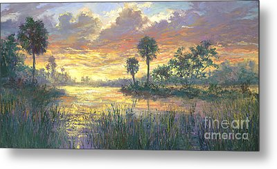 Everglades Sunrise Metal Print by Laurie Hein