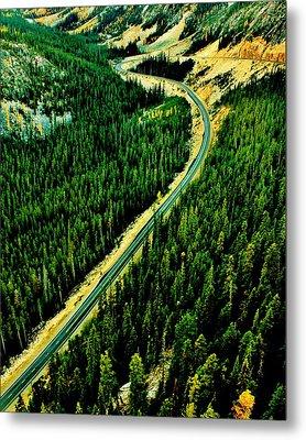 Evergreen Highway Metal Print by Benjamin Yeager