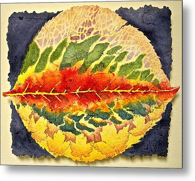 Metal Print featuring the painting Every Leaf Has A Story by Carolyn Rosenberger