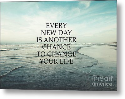 Metal Print featuring the photograph Every New Day by Sylvia Cook