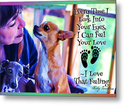 Metal Print featuring the digital art Every Time I Look Into Your Eyes by Kathy Tarochione