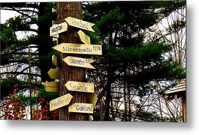 Every Which Way Metal Print