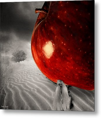 Eve's Burden Metal Print by Lourry Legarde