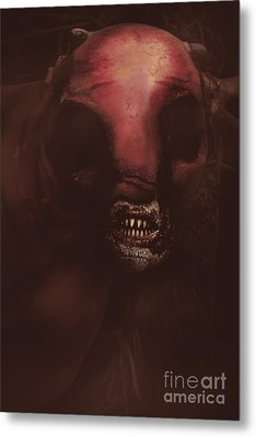 Evil Greek Mythology Minotaur Metal Print