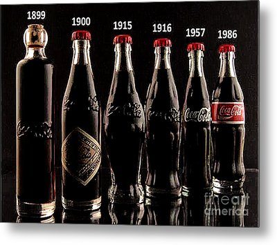 Evolution Of Coca Cola Tm Metal Print by Merton Allen