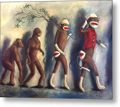 Metal Print featuring the painting Evolution by Randol Burns