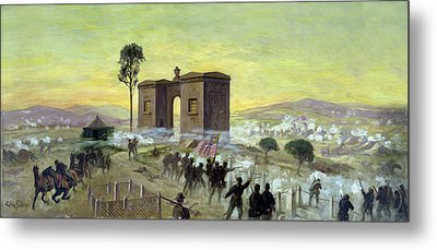 Ewells Charge On Cemetery Ridge Metal Print