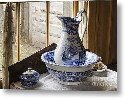Ewer And Basin Metal Print by Michael DeFreitas