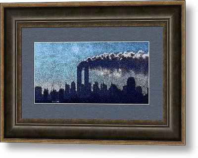 Example Sample Of Surreal Silhouette From Tuesday Morning In September Metal Print