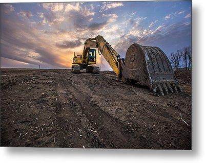 Excavator Metal Print by Aaron J Groen