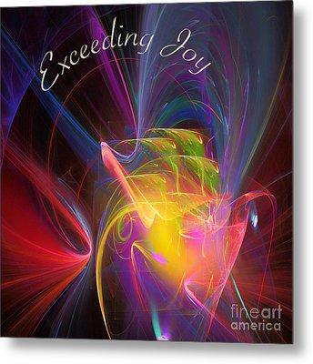 Exceeding Joy Metal Print by Margie Chapman