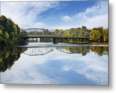 Metal Print featuring the photograph Exchange St. Bridge Rock Bottom Dam Binghamton Ny by Christina Rollo
