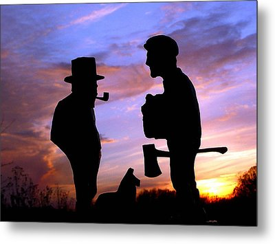 Exchanging Memories Metal Print by Larry Trupp