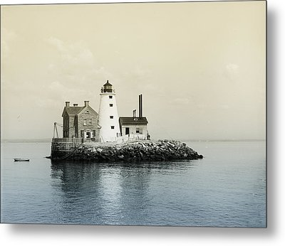 Execution Rocks Lighthouse New York  Metal Print by Bill Cannon