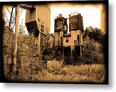 Exeter Concrete - Abandoned Metal Print
