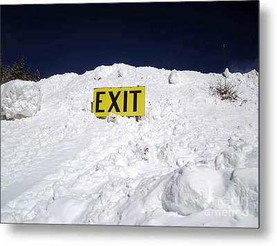 Metal Print featuring the photograph Exit by Fiona Kennard