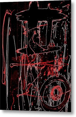 Metal Print featuring the painting Exo 20 Red by Cleaster Cotton