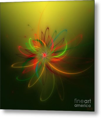 Exotic Lotus Metal Print by Hanza Turgul