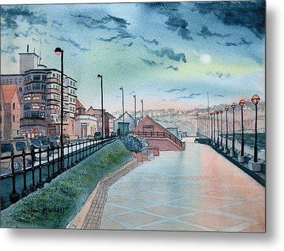 Expanse Hotel And South Promenade In Bridlington Metal Print