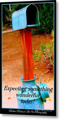 Expecting Something Wonderful Metal Print by Bobbee Rickard