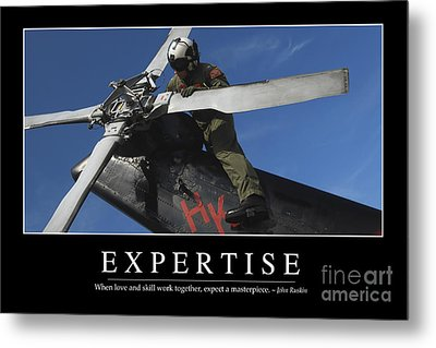 Expertise Inspirational Quote Metal Print by Stocktrek Images