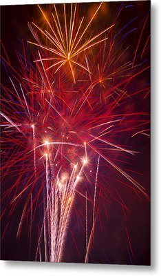 Exploding Fireworks Metal Print by Garry Gay