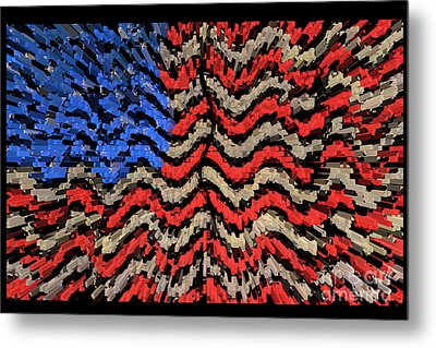 Exploding With Patriotism Metal Print by John Farnan