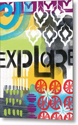 Explore- Contemporary Abstract Art Metal Print